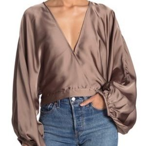 Free People Midnight Vibes Satin Top size S